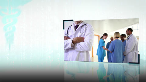 Montage of medical teams Stock Video Footage
