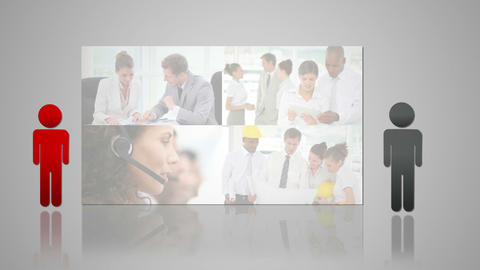 Business situations pictures appearing Animation