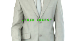 Businessman pressing energy button Stock Video Footage