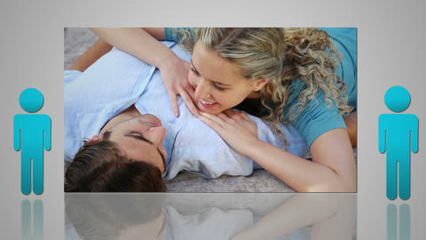 Montage of various couples Stock Video Footage