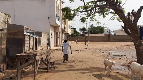 poliomyelitis woman Stock Video Footage