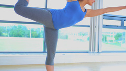 Video of a woman doing yoga pose Stock Video Footage