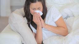 Video of sick woman sneezing Footage