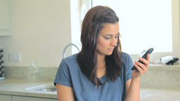 Video of woman calling her friend with her smartph Stock Video Footage