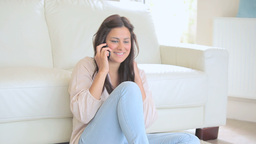 Video of smiling woman phoning Stock Video Footage