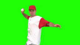 Baseball pitcher throwing a ball Footage