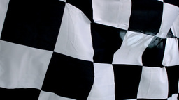 Checkered black and white flag waving Footage