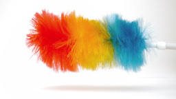 Feather duster revolving on itself Stock Video Footage