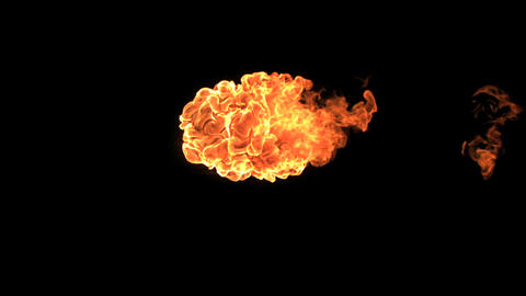 Small fireball moving in slow-motion horizontally Footage