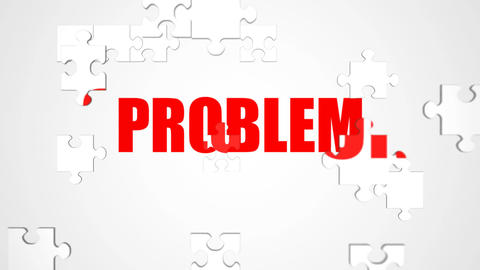 Solution Jigsaw Puzzle Animation stock footage