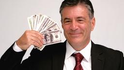 Businessman waving bills Footage