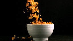 Cereal falling in a bowl Footage