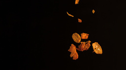 Cereal falling in slow motion Stock Video Footage