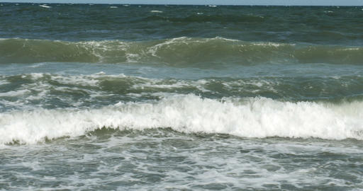 1856 Ocean Waves at the Beach, 4K Footage