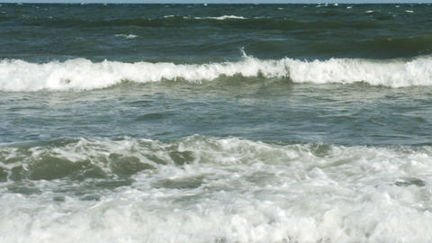 1856 Ocean Waves at the Beach, HD Stock Video Footage