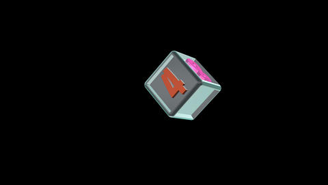 Dice Cont Down 01 Stock Video Footage