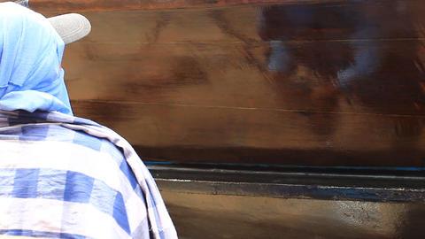 Boat maintenance Footage