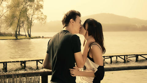 romantic young couple Footage