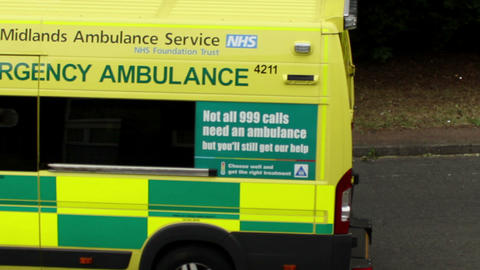 Two Ambulances Drive Away stock footage