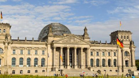 4k UHD berlin german bundestag time lapse 11460 Stock Video Footage