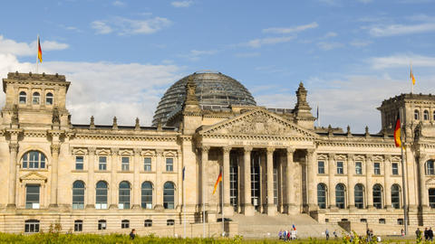 4k UHD Berlin German Bundestag Time Lapse 11460 stock footage