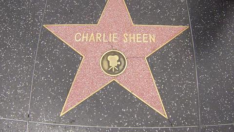 hollywood walk of fame star walking shot charlie s Live Action