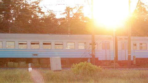 Sunset train Footage