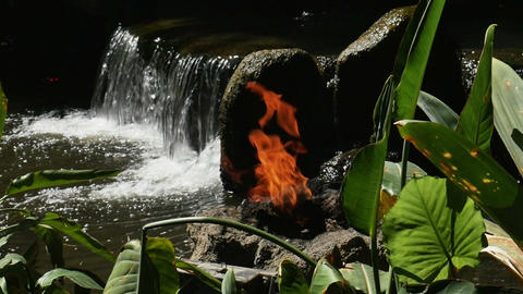 1935 Fire and Waterfall in Slow Motion Live Action