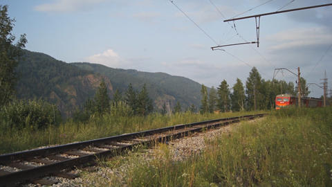 Electric Train stock footage