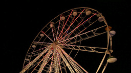 Big Wheel In Amusement Park stock footage