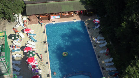 The Pool At The Hotel In Bulgaria. 4K stock footage