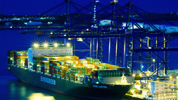 4K Ship Cargo Containers Perama Port Harbor Athens stock footage
