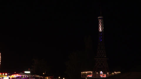 A copy of the Eiffel tower. Varna. Golden Sands. R Stock Video Footage