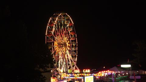 Ferris wheel in bright lights. Golden Sands. Resor Stock Video Footage