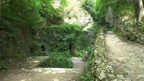 Catacombs near Aladzha. Varna. Bulgaria. 4K Footage