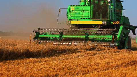 Harvesting on a Hot Day Stock Video Footage