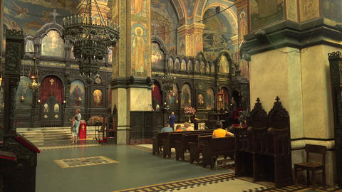 The Cathedral of the Assumption in Varna, Bulgaria Stock Video Footage