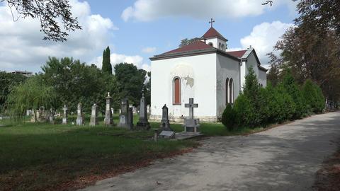Ancient cemetery in Varna. Bulgaria. 4K Footage