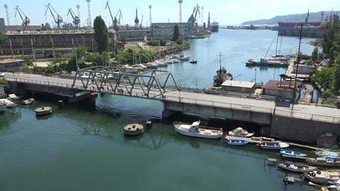 Port of Varna. Bulgaria. 4K Stock Video Footage