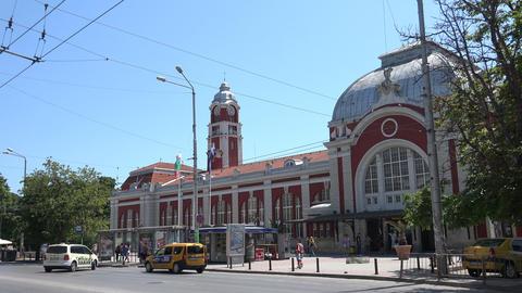 Railway station in Varna. Bulgaria. 4K Stock Video Footage