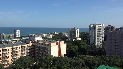 Golden Sands resort in Varna. Bulgaria. 4K Footage