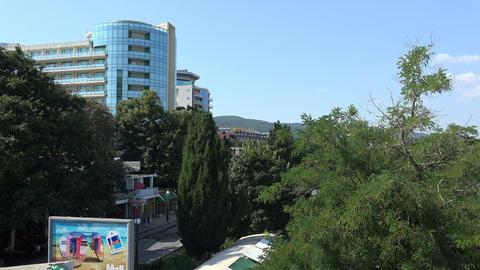 Golden Sands resort in Varna. Bulgaria. 4K Stock Video Footage