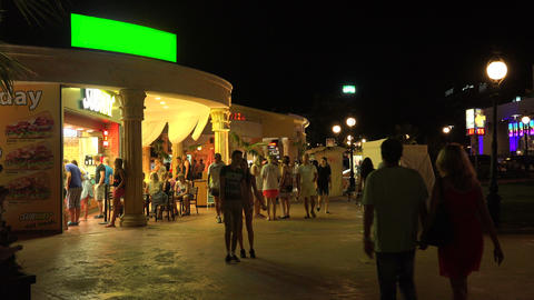 Nightlife in the Golden Sands resort. Varna. Bulga Footage