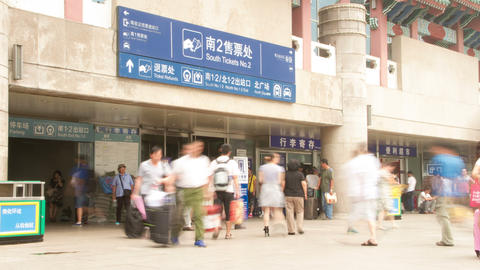 Beijing West Railway Station At Daytime 4k stock footage