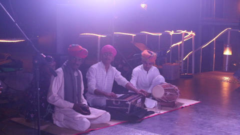 Indian musicians play traditional musical Footage