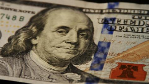 2013 United States one hundred dollar bill, 4K Footage