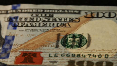 2013 United States one hundred dollar bill, 4K Stock Video Footage