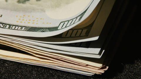 2015 Stack Of One Hundred Dollar Bill United State stock footage