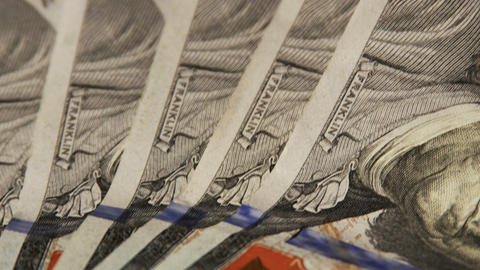 2019 United States one hundred dollar bills, 4K Footage