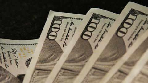 2021 United States one hundred dollar bill, 4K Footage